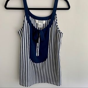 3/$20 BB Dakota striped blouse with tie detail M